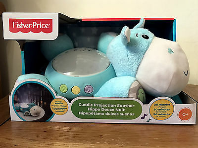 NEW Fisher-Price Hippo Plush Cuddle Projection Soother