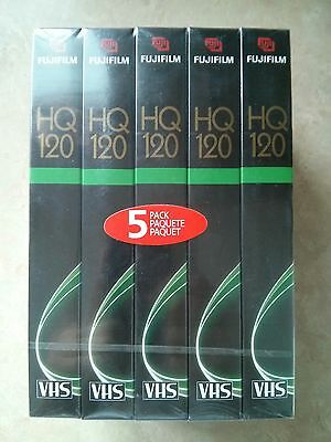 FujiFilm HQ120 6 Hour Multi-Purpose VHS Tapes Lot of 5  New  Unopened