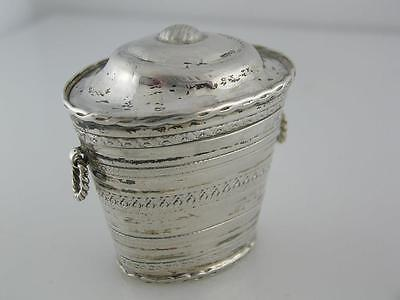 Early Dutch 833 Silver Peppermint Box for Chatelaine c1846