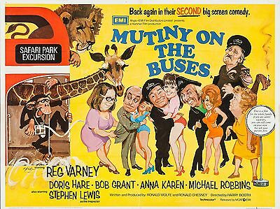 "Mutiny On the Buses 16"" x 12"" Reproduction Movie Poster Photograph"