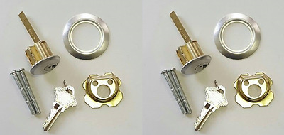 Pair of Garage Door Lock Key Lock Cylinder (Keyed Alike)~Same Day Shipping