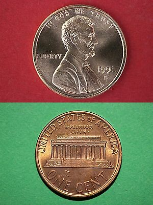 1991 D Lincoln Memorial Cent Uncirculated From Mint Sets Combined Shipping