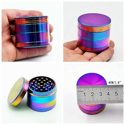 4 Piece Herb Spice Alloy Smoke Crusher 40mm Tobacco Grinder Colourful Hot