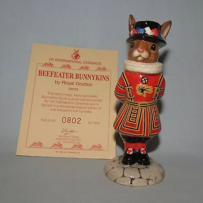 Royal Doulton Limited Edition Bunnykins Beefeater Db163 Boxed