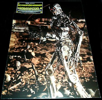 1991 Terminator 2 Judgment Day ORIGINAL ITALIAN Photobusta POSTER Schwarzenegger