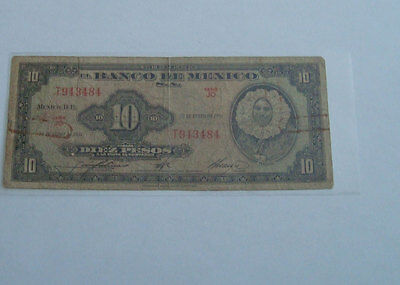 Mexico Banknote..... 10 Pesos.......... 1961........Paper Money........Circ