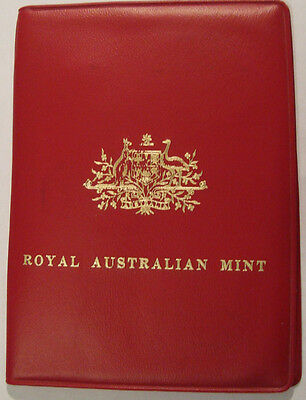Australian 1971 Royal Mint Coin Set in Red Plastic Wallet Unc Original Packaging