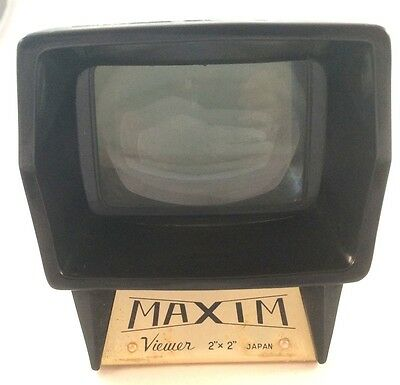 Maxim 2x2 Color Slide Viewer Japan, Small, Great condition