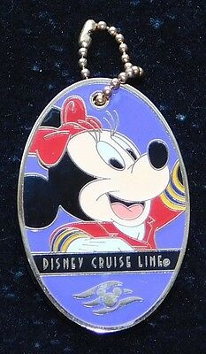 Disney Cruise Line Dcl Minnie Mouse Luggage Tag Pin *hard To Find*