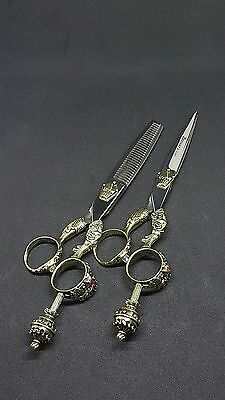 Japan 6  inches high quality professional Crown Hairdressing scissors set