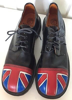 Vintage New Tredair Doc Martens Union Jack Oxfords Size 12 Made in England