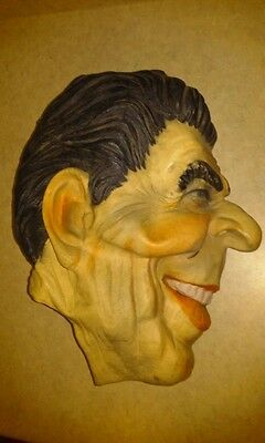Vintage 1985 Original Cesar Mask Halloween Costume President Ron Ronald Reagan