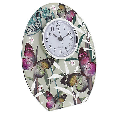 Hestia Butterfly Collection Mantel Clock