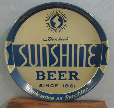 Vintage Sunshine Beer Metal Tray Barbey's Reading,pa