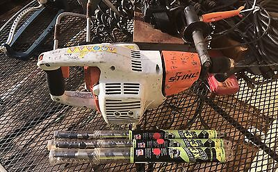 Stihl bt 45 gas powered wood boring drill with bits