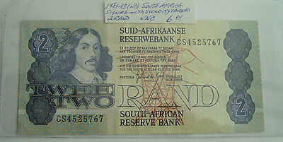 SOUTH AFRICA BANKNOTE 2 Rand 1981 GEM UNC