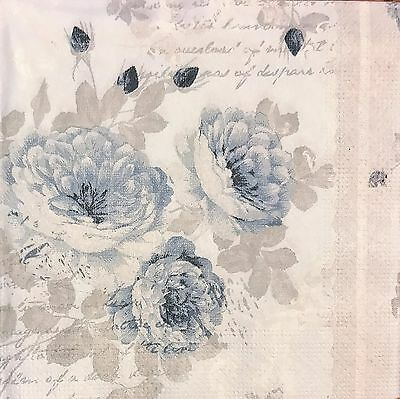 20 paper napkins for Decoupage Collection Servietten Shabby Roses Flowers #2516