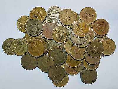RUSSIA 3 kopecks CCCP kopeks UNSEARCHED lot 1961 - 1991 world 10 COINS