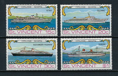 St.Vincent #371-4 MNH, Cruise Ships, 1974