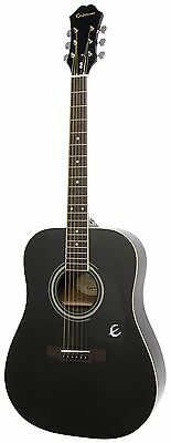Epiphone DR-100 Acoustic Guitar, Ebony FREE SHIPPING (BRAND NEW)