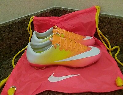 Nike Mercurial Vapor X FG Soccer Cleats Bright Mango 744950-818 Size 7, 10.5
