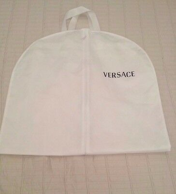 VERSACE White Breathable Cloth Garment Holder Bag - Travel Storage