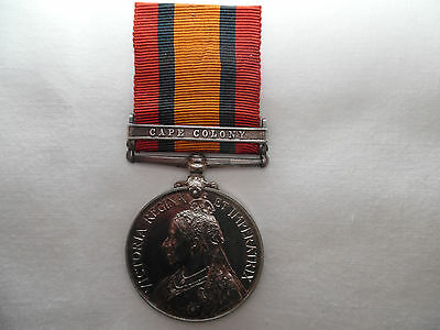 Boer war medal QSA Casualty Saddler Hitchcock E.J.Lancashire Imperial Yeomanry