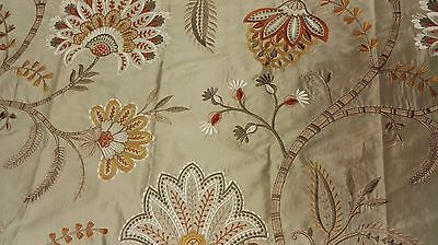 Colefax & Fowler Loredana silk Embroidered fabric 48cm long 130cm wide, RRP £147