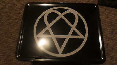 HIM Heartagram retro metal lunchbox thermos Hot Topic discontinued