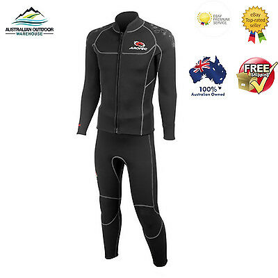 Wet Suit Neoprene 3mm 2 Piece Wetsuit Top/Jacket and seperate Pants stretch