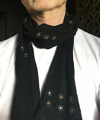 Dries Van Noten light wool black scarf