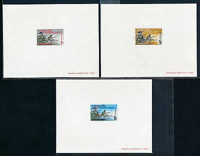 Cambodia 246-8 1971 Soldiers in Battle Proof Card set