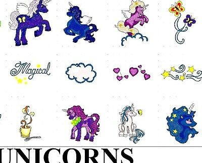 Unicorns Embroidery Designs Pes Buy Any 2 Cds & Get A Free Font Cd New