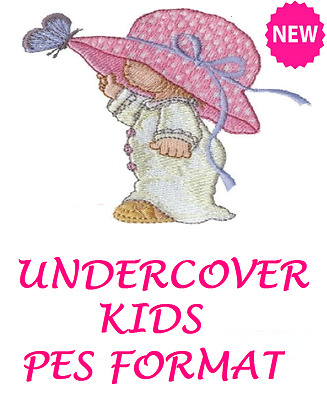 Undercover Kids Embroidery Machine Designs Cd, Buy 2 Cds & Get Fonts Cd Free