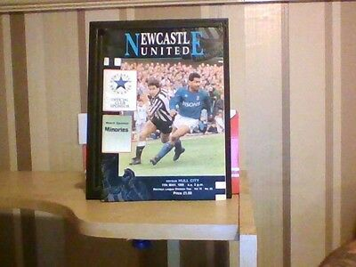 Newcastle united v Hull city official programme 1991