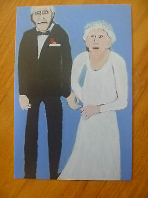 Postcard...queen Elizabeth Ii & Prince Philip..aboriginal Art Awards..namatjira
