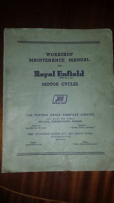 Royal Enfield Workshop Manual ORIGINAL in very good condition