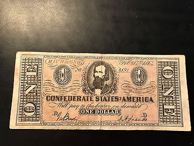 1864 Confederate States of America $1 Reproduction Note