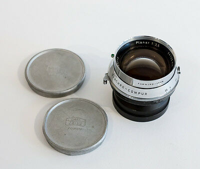 Linhof Carl Zeiss 135mm f3.5 Planar Lens 4x5 Large Format EXCELLENT!