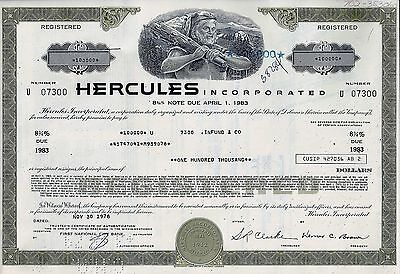 Hercules Incorporated 1978, 8 3/4% Note due 1983 (100.000 $)
