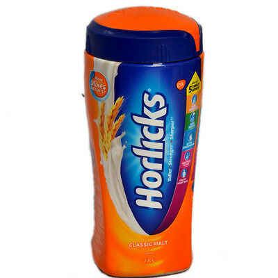 Horlicks Jar - 200 Gm (Classic Malt) Mix in Milk Health suppliment Free Shipping