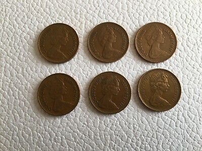 UK COIN 1975 1978 1979 1980 - x2 1981 with RARE 2 pence error 'NEW PENCE' issued