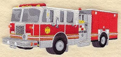 """bvFire Truck, Fire Engine, Firefighter, Embroidered Patch 6.8""""x 3.0"""""""