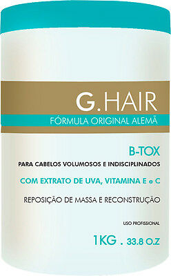 G Hair B-Tox Hair Mask Treatment Formula Smoothing Effect  1Kg 33.8Oz