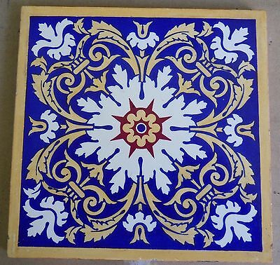 "Original  English  Minton &Co  8x8""Tile c1869"