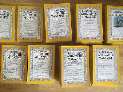 Vintage National Geographic magazine 1950 to 1959 - Choose Your 1950s Issue