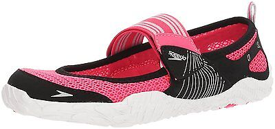 Speedo Womens Offshore Strap Athletic Water Shoe, Pink/White, 8 C/D US