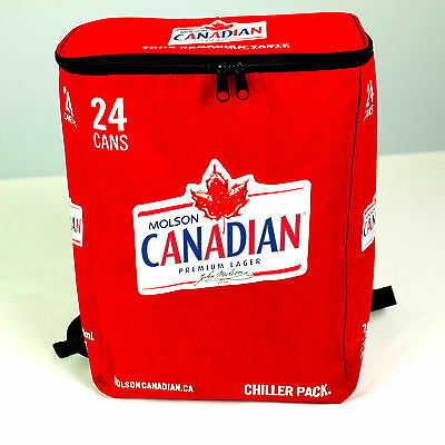 Molson Canadian Cooler BEER Soda BACKPACK 24 Cans Knapsack BAG Insulated *NEW*