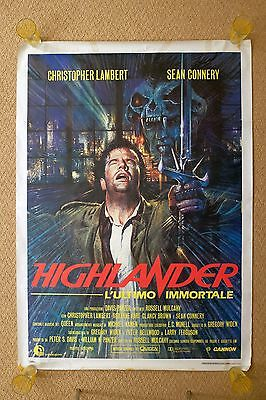 Highlander Large Vintage Italian Movie Poster