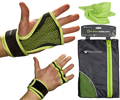 Weight Lifting Gloves With Wrist Support - Crossfit Gym Fitness Workout Training